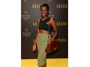 Ivy Quainoo bei der Fashion Week Berlin 2014