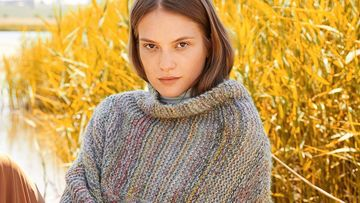 Oversize Strickpullover in Multicolor Strickanleitung