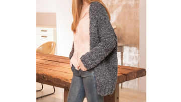 Oversized Cardigan in Grau